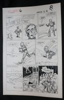 Droids #6 p.6 - Star Wars - C-3PO and R2-D2 in Quicksand - 1987 Comic Art