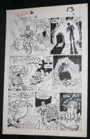 Droids #6 p.9 - Star Wars - C-3PO and R2-D2 vs. Giant Monster - 1987 Comic Art
