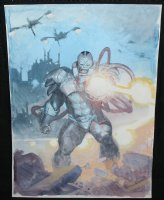 Apocalypse from the X-Men Painted Art Commission - LA Comic Art