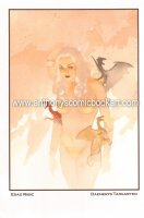 Daenerys Targaryen Nude with Dragons from Game of Thrones Print - 2014 Signed Comic Art