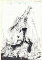 Cable #86 p.15 - Battle Splash - 2000  Comic Art