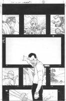 Dark Reign: The List - Wolverine #1 p.1 (inks by Tom Palmer) Comic Art