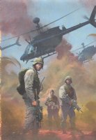 Combat Zone: True Tales of GIs in Iraq #1 Painted Cover - 2005 - Signed Comic Art