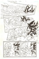 Sonic Universe #70 p.1 - Shadow saves Knuckles - 2014, Seller: Anthony's Comicbook Art, Price $60