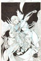 Earth 2: Society #3 Variant Cover - Power Girl vs. Val-Zod - 2015 Signed Comic Art