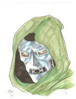 Doctor Doom Color Portait  - 2010 Signed Comic Art