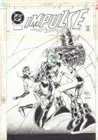 Impulse #66 Cover - Impulse, Inertia, and Max Mercury - 2000 Signed Comic Art