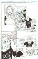 Batman: The Dark Knight #17 p.7 - Alice Dee and Jervis Tetch in High School Flashback - 2013 Comic Art