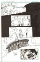 Batman: The Dark Knight #17 p.11 - Asbury Park Carousel - Mad Hatter, Tweedle Dee, and Tweedle Dum Abducting Children - 2013 Comic Art