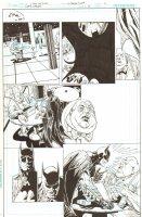 Batman: The Dark Knight #18 p.2 - Batman Intimidates Tweedle Dee - 2013 Signed Comic Art