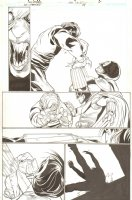 Justice Society of America Classified - Issue 24 Pg 17 - Hero Action Vs Vampire Comic Art