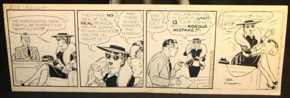 Li'l Abner Daily Strip - 1/16/1956 Signed Comic Art