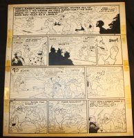 Li'l Abner Sunday Strip - Wolf Gal - 8/4/1946 Signed Comic Art