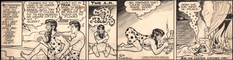Li'l Abner Daily Strip - 10/17/1936 Signed Comic Art