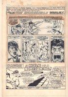 Mighty World of Marvel #297 Marvel UK Reprint after Sal Buscema - Incredible Hulk - 1978 Comic Art
