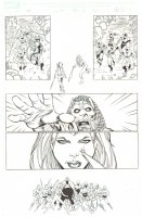 Deadpool Corps #11 p.5 - Lady Deadpool battles Princess Teela - 2011 Signed Comic Art