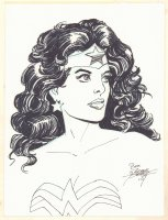 Wonder Woman Bust Commission - 2007 Signed Comic Art
