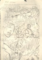 Captain Action p.18 RROOOOMM! Pencil Prelim Signed Comic Art