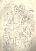 Captain Action p.17 Pencil Prelim Signed Comic Art