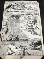 Thor #318 p.19 - Angry Thor Flies Away - 1982 Signed by Stan Lee! Comic Art