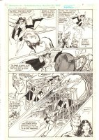 DC Challenge #4 p.5 - Zatanna, Martian Manhunter, and Aquaman Action - 1986  Comic Art