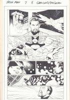 Iron Man #7 p.8 - Phoenix and Wanda the Scarlet Witch - 2013  Comic Art
