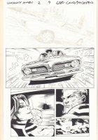 Uncanny X-Men #2 p.9 - Hot Rod Racing - 2016 Comic Art