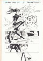 Uncanny X-Men #15 p.17 - Psylocke vs. Mystique - 2016 Comic Art
