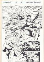 Weapon X #4 p.8 - Domino Action - 2017  Comic Art