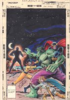 Defenders #69 Cover - Hulk, Nighthawk, Hellcat, and Valkyrie vs. the Anything Man - Painted After Published by Steve Oliff! - 1979 Signed by Stan Lee Comic Art