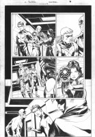 Titans #8 p.7 - Whole Team & Great Donna Troy Comic Art