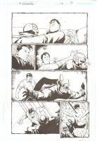 Midnighter - Issue 17 Pg 6 - Signed by Rick Burchett Comic Art