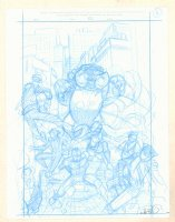 Inhumans: Once and Future Kings Pencil Cover Prelim #A - Unpublished Version - 2017 Signed  Comic Art