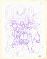 Inhumans: Once and Future Kings Pencil Cover Prelim #B - Published Version - 2017 Signed  Comic Art