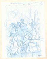 Inhumans: Once and Future Kings Pencil Cover Prelim #C - Unpublished Version - 2017 Signed  Comic Art