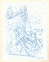 Black Panther, Black Widow, and Spider-Man #A Pencil Cover Prelim - Signed Comic Art