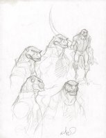 Lizard from Amazing Spider-Man Pencil Studies - Signed Comic Art