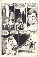 The Six Million Dollar Man Magazine #2 p.45 - 1976 Comic Art