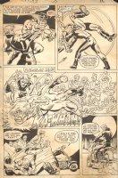 Ghost Rider #59 p.12 - Johnny Blaze Beats Up Outlaw Bikers - 1981 Comic Art
