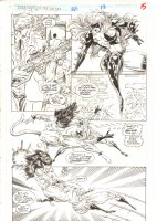 Guardians of the Galaxy #28 p.15 - Titania & Talon Action - 1992  Comic Art