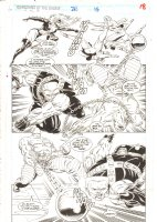 Guardians of the Galaxy #28 p.18 - Titania & Absorbing Man Action vs. Charlie-27 - 1992  Comic Art