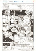Guardians of the Galaxy Annual #2 p.11 - Firelord & Skrull Replica - 1992  Comic Art