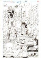 Guardians of the Galaxy Annual #2 p.20 - Spirit of Vengeance, Firelord, & Skrull Replica - 1992  Comic Art