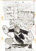 Guardians of the Galaxy Annual #2 p.36 - Phoenix Force Giraud Splash - 1992  Comic Art