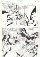 Hawkworld #29 p.5 - Hawkman vs. Hawkwoman - 1992 Signed Comic Art