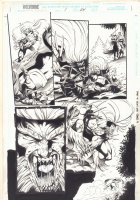 Wolverine: Knight of Terra #1 p.24 - Sabretooth Action - 1995 Signed Comic Art
