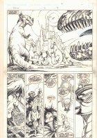 Elric: The Vanishing Tower #6 p.19 - Cityscape 1/2 Splash - 1998 Signed Comic Art
