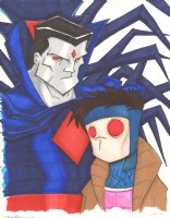 Mister Sinister and Gambit Color Commission - Signed Comic Art