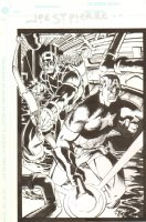 Hawkeye and Captain America in Sewer for Print - Signed Comic Art