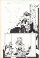 Marvel Universe: The End #1 p.9 - Akhenaten and Silver Surfer Flying Away - 2003  Comic Art